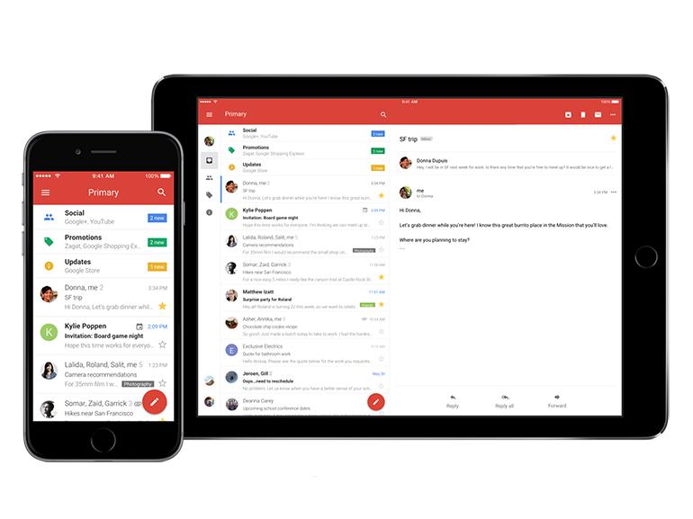 iOS: Google Gmail et Agenda se refont une beauté