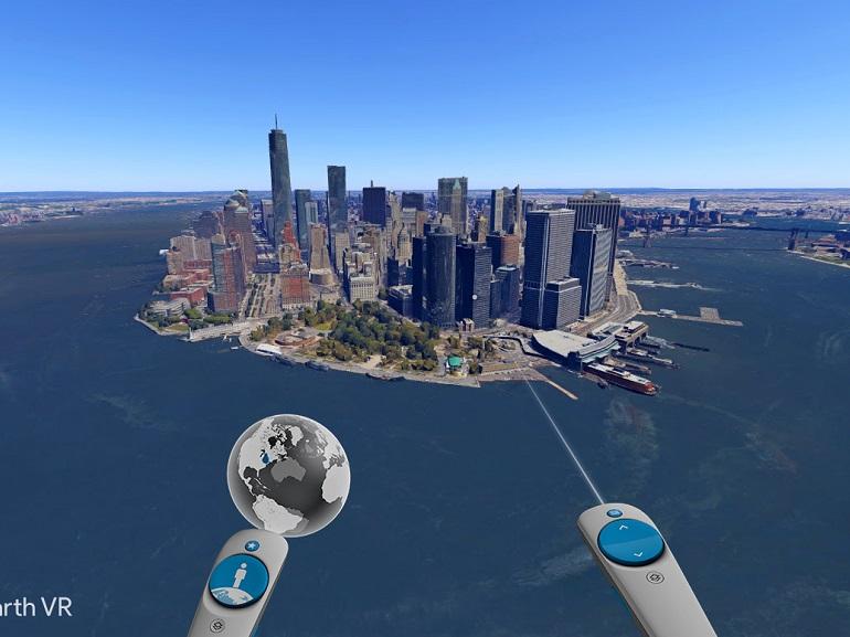 Explorer le monde en réalité virtuelle avec Google Earth VR et le HTC Vive