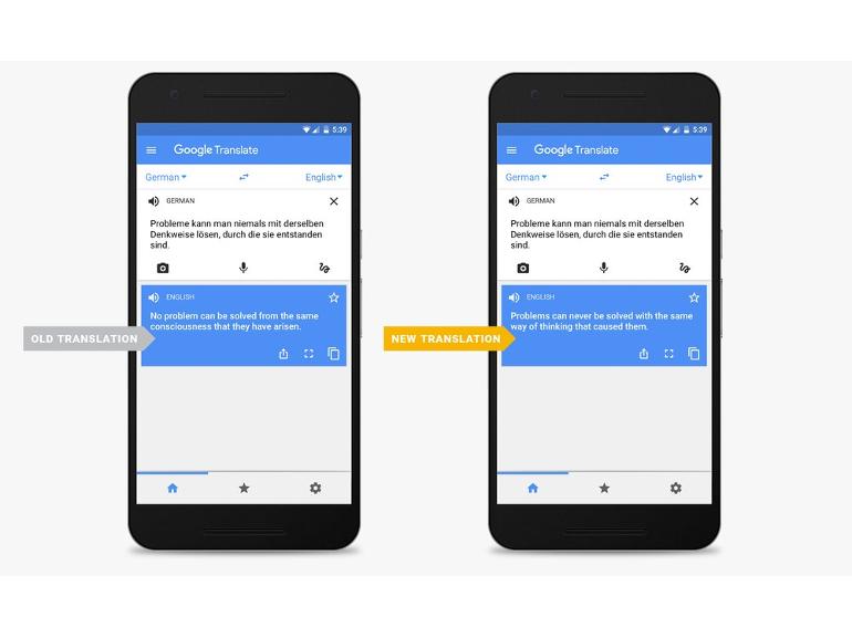 Google Traduction s'améliore dans 8 langues grâce à un réseau neuronal