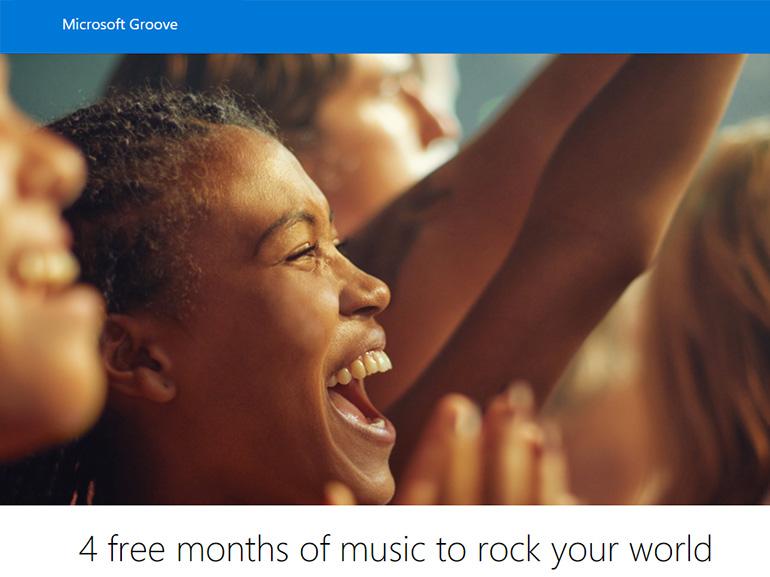 Microsoft Groove Music : 4 mois offerts pour découvrir le service de streaming