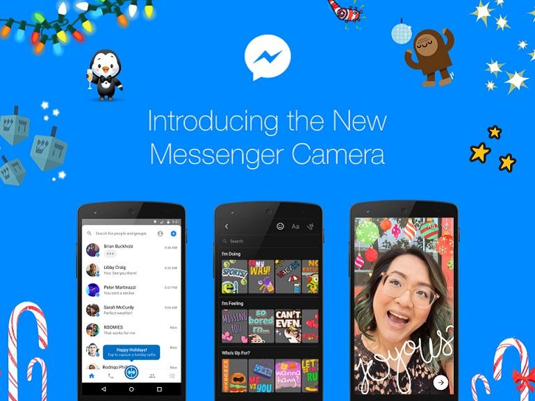 Facebook s'inspire de Snapchat avec une nouvelle application Messenger camera