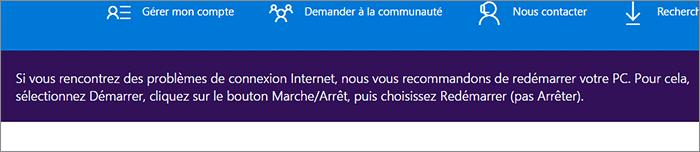 Redémarrage Microsoft