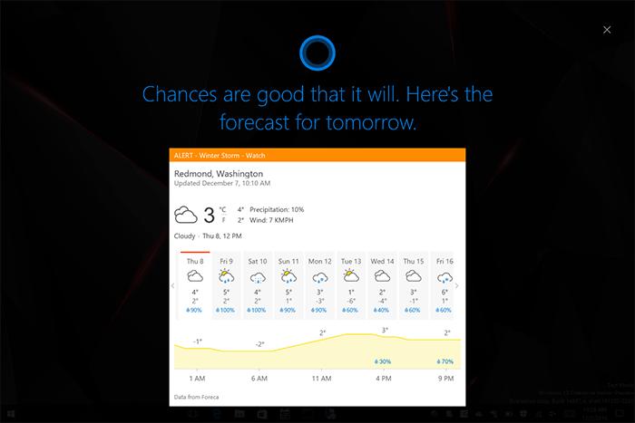Cortana plein écran