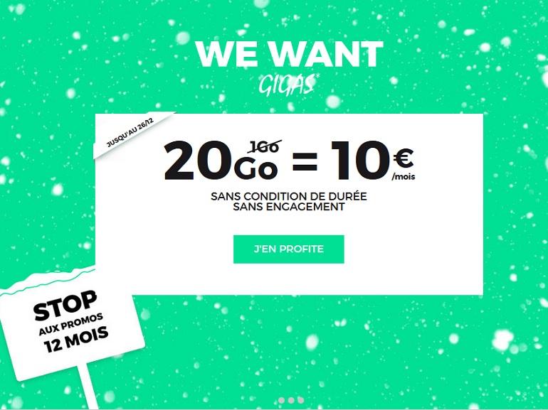 RED by SFR : le forfait illimité 20 Go à 10 € est prolongé jusqu'au 26 décembre