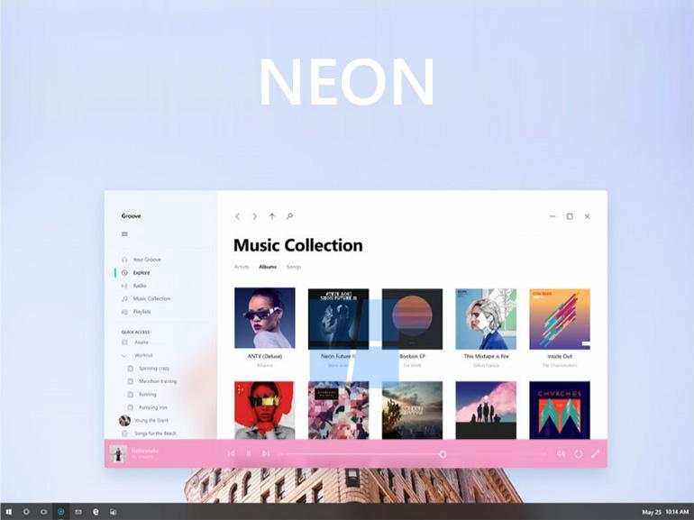 Nouveau design Windows 10 : des images du projet Neon