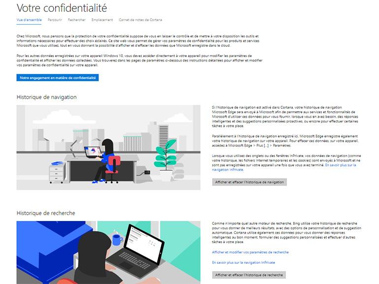 Windows 10 et données personnelles : un nouveau panneau de contrôle en préparation