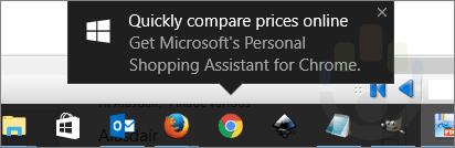 Publicité dans Windows 10