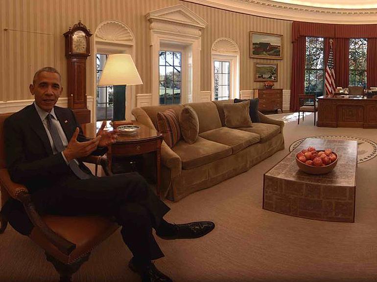 Obama vous fait visiter la Maison Blanche en réalité virtuelle