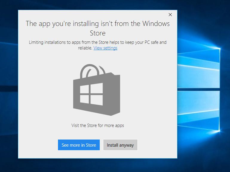 Windows 10 : une option pour limiter les installations au Windows Store
