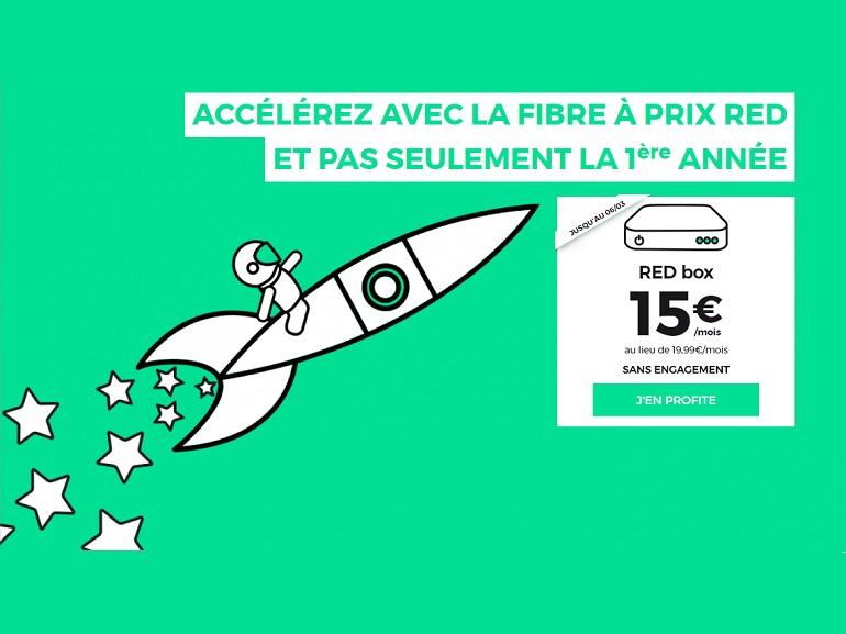 """Bon Plan : La fibre SFR RED à 15 euros par mois et ce """"à vie"""""""