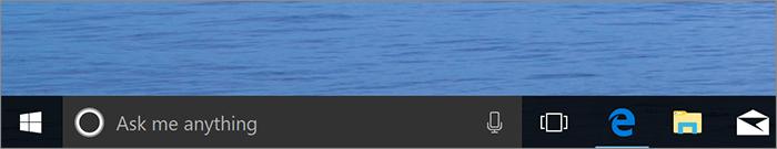 Cortana dans la barre des tâches