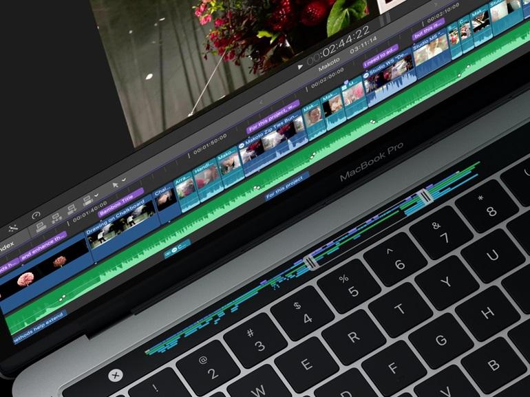 MacBook Pro : la Touch Bar à l'épreuve de Final Cut Pro X, Logic Pro X, Garageband et iMovie