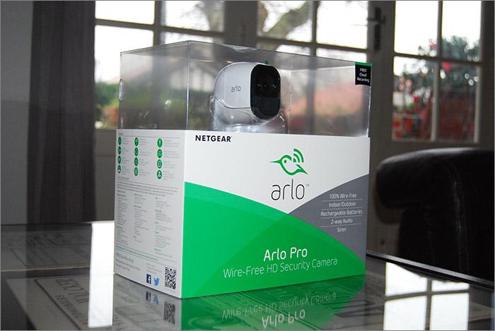 Emballage de la caméra Arlo Pro