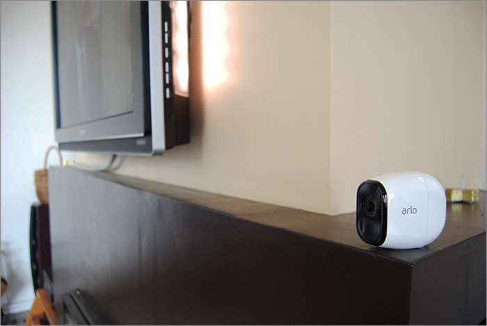 Caméra sur la cheminée