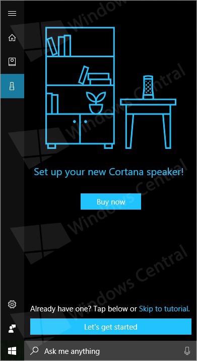 Configuration d'une enceinte Cortana