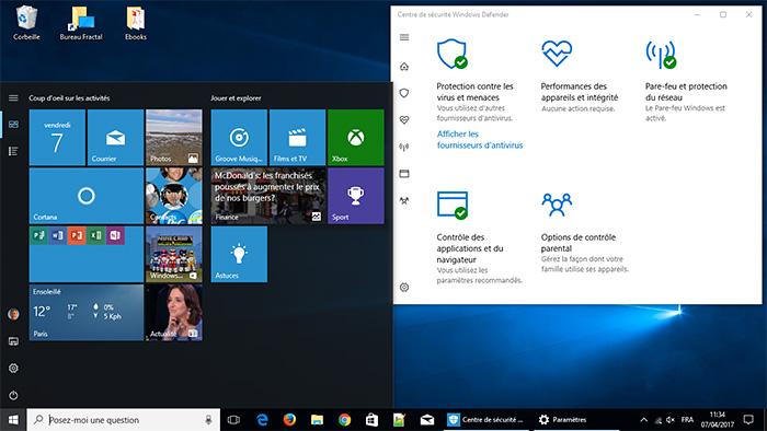 Bureau de Windows 10 Creators Update