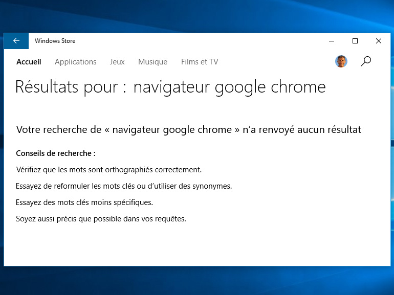 Windows 10 S : la version bureau de Google Chrome serait recalée