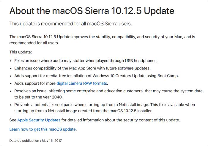 Notes MacOS Sierra 10.12.5