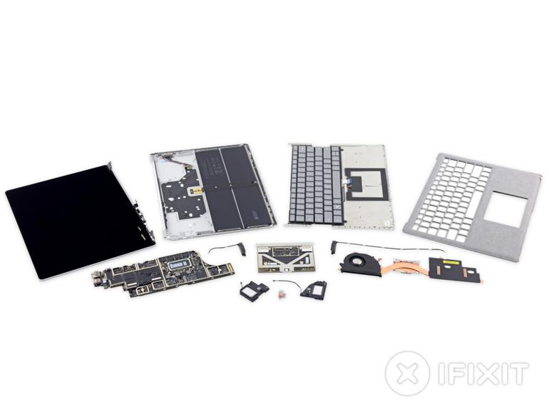 Microsoft fait pire qu'Apple avec un Surface Laptop irréparable selon iFixit