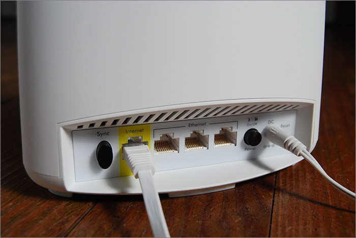 Dos du routeur