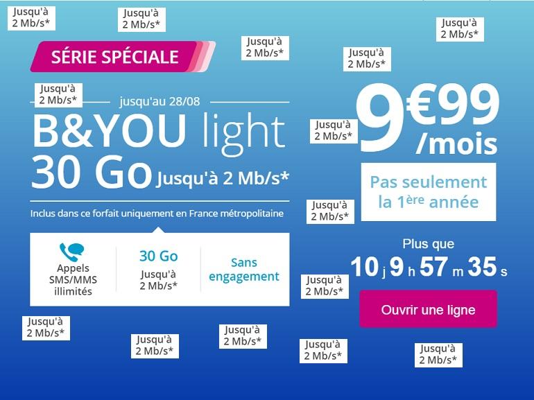 B&You Light : 30 Go de data bridée pour 9,99 euros, n'y allez surtout pas