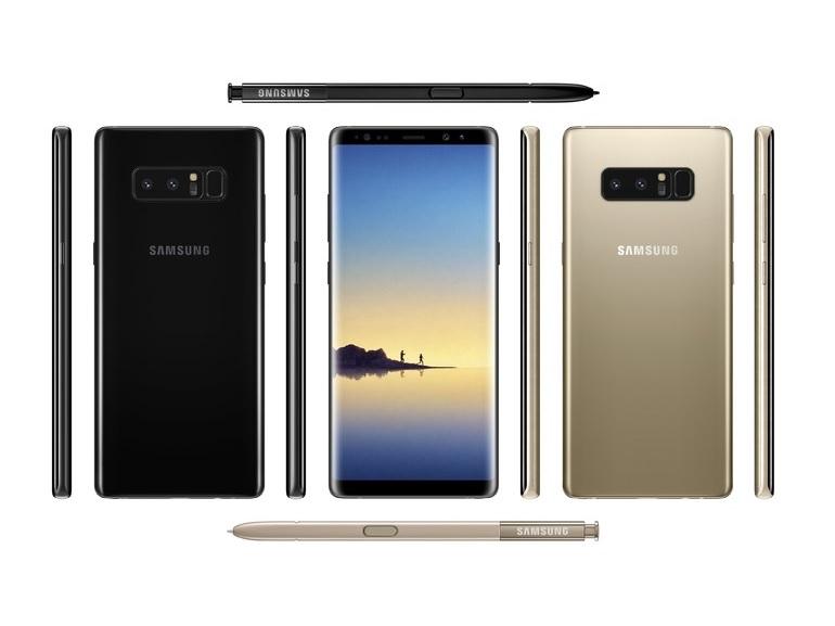 Le Galaxy Note 8 se dévoile en image avec un rendu presse