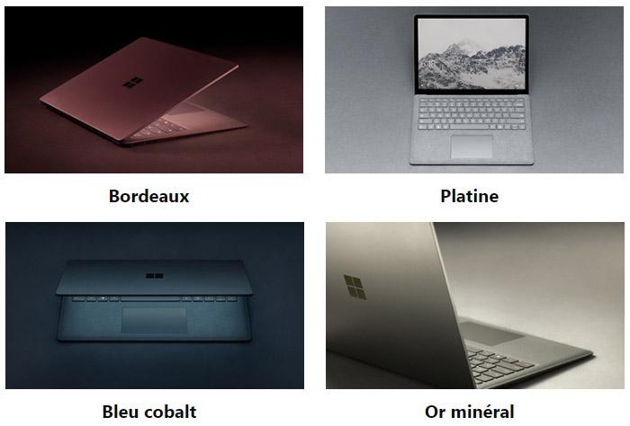 Couleurs Surface Laptop