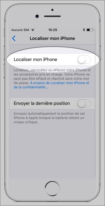 Localisation sur iPhone