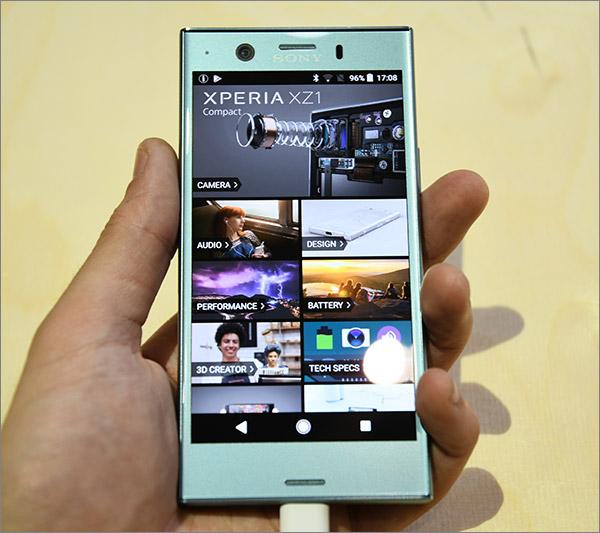 Prise en main et écran du XZ1 Compact