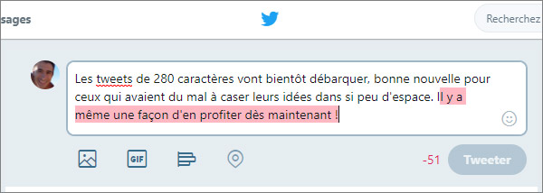 Tweet trop long