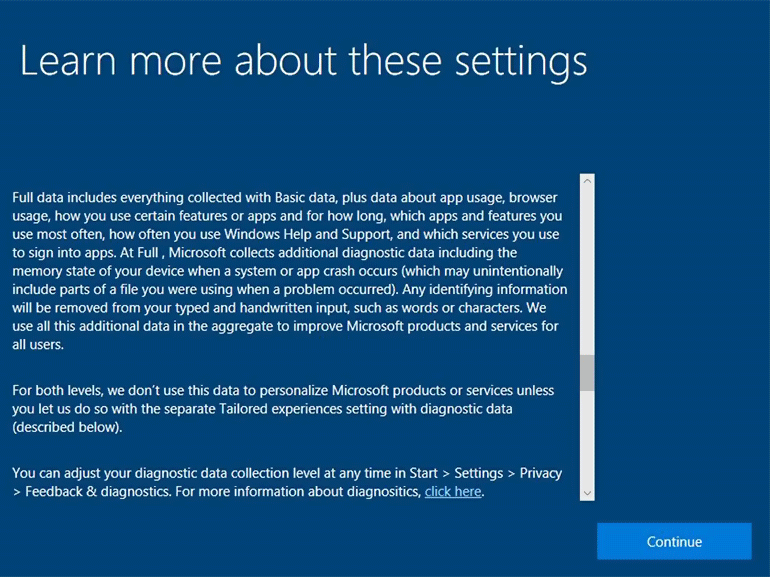 Windows 10 1709 : de nouveaux contrôles pour la confidentialité