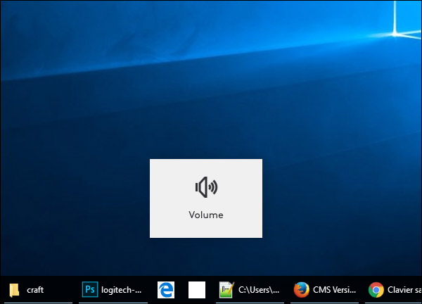 Volume sous Windows 10