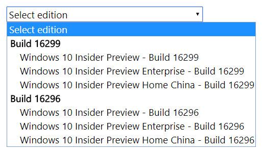 choix des fichiers ISO
