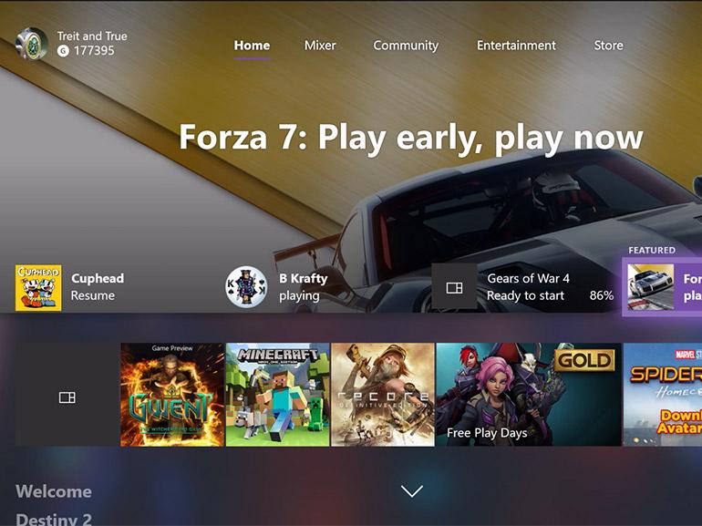 Xbox : la mise à jour Fall Creators Update se diffuse sur console
