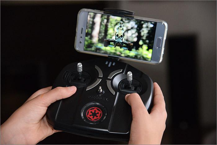 Smartphone sur le controleur