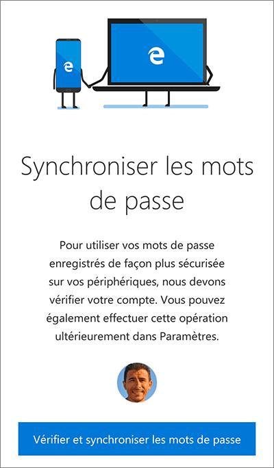 Synchronisation des mots de passe