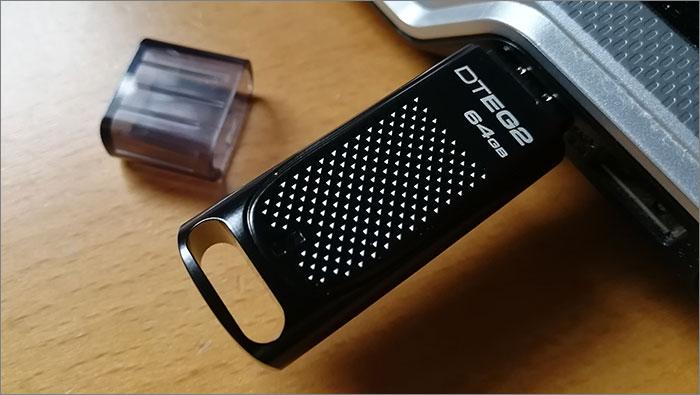 Clé dans un port USB