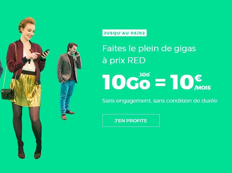 RED by SFR : derniers jours pour profiter du forfait 10 Go à 10€