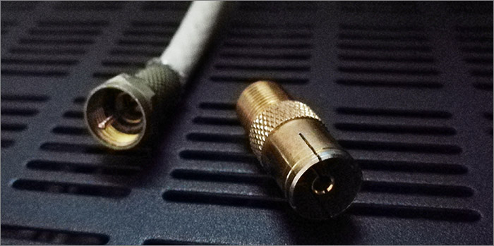 Adaptateur antenne cable coaxial