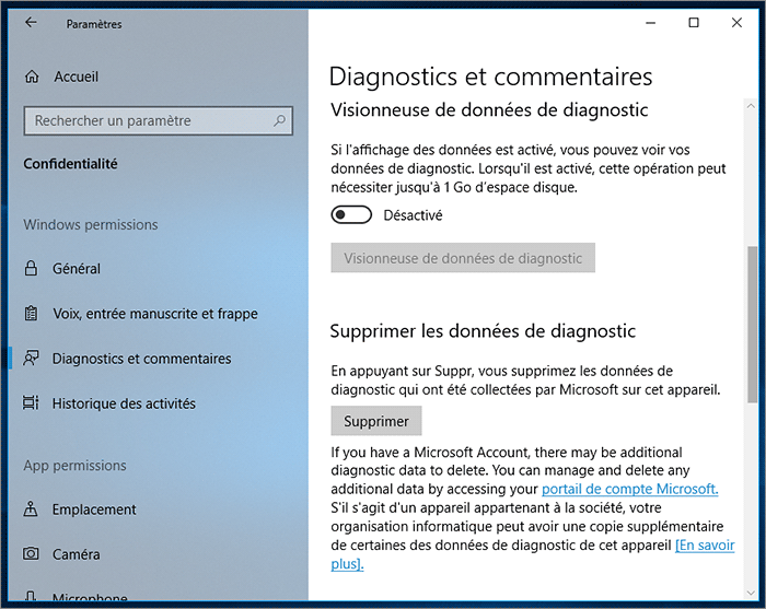 Visionneuse de diagnostic
