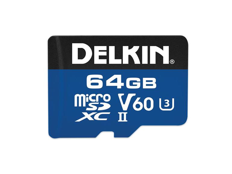 Delkin microSDXC 64 Go (V60 - UHS-II)