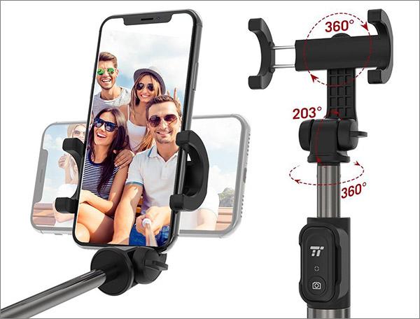 Perche selfie avec télécommande