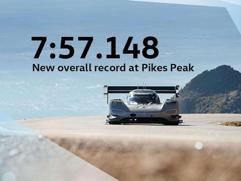 Une Volkswagen électrique fait tomber le record de Pikes Peak