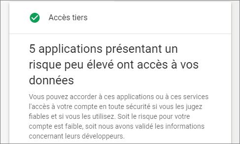 Autorisations des applications