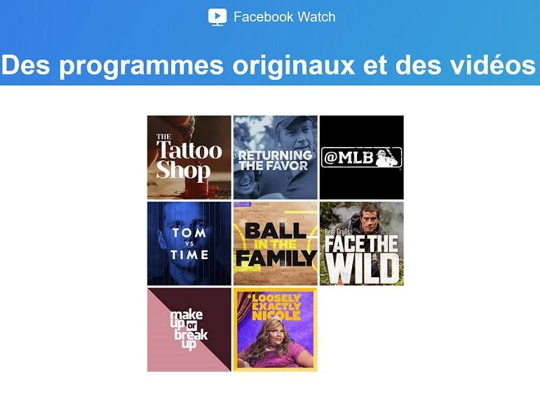 Facebook Watch, la plateforme de VOD qui entend concurrencer YouTube et Netflix arrive en France