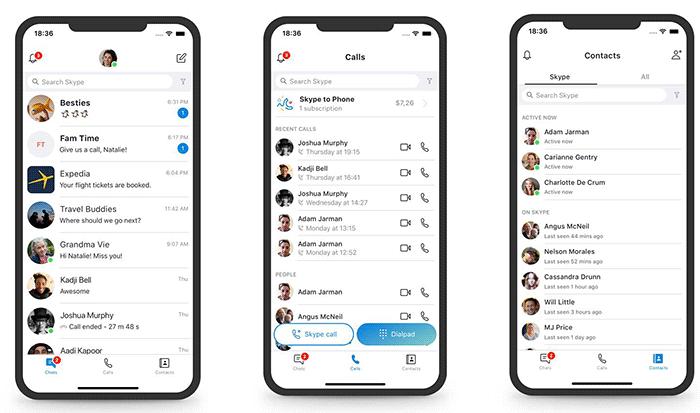 Application mobile Skype
