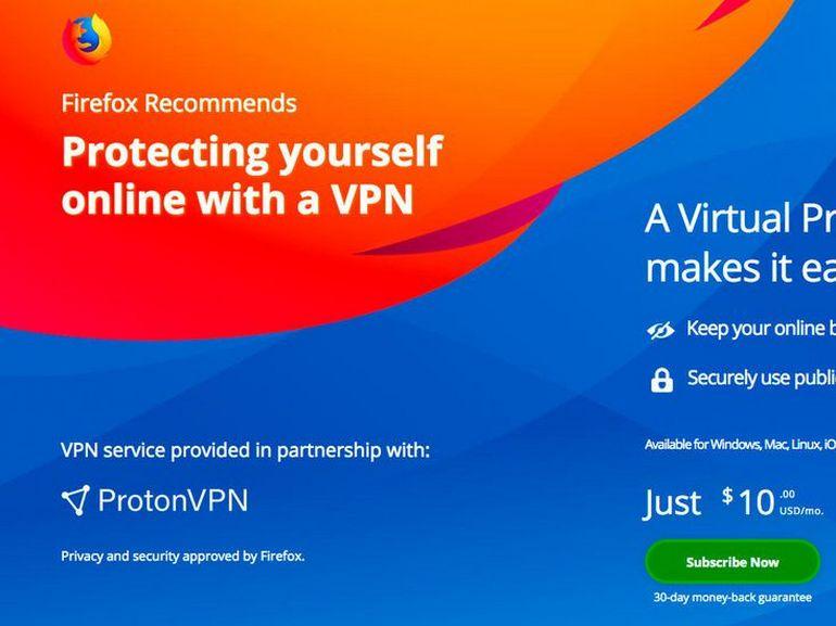Mozilla teste un VPN payant intégré à Firefox