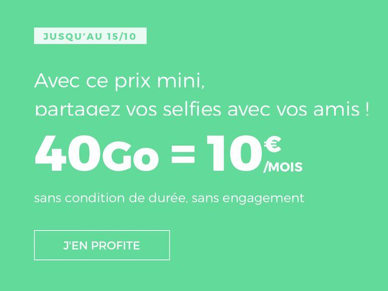 RED by SFR : le forfait 40 Go à 10€ prendra fin le 15 octobre