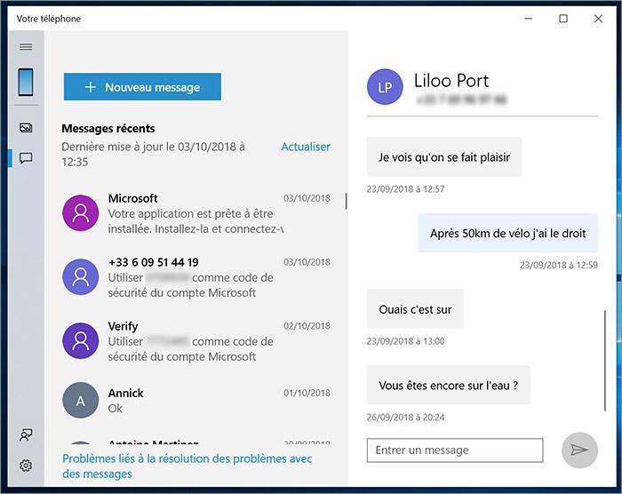 SMS sur PC