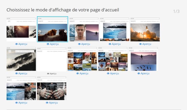 Photographes.com Site Web Interface Création
